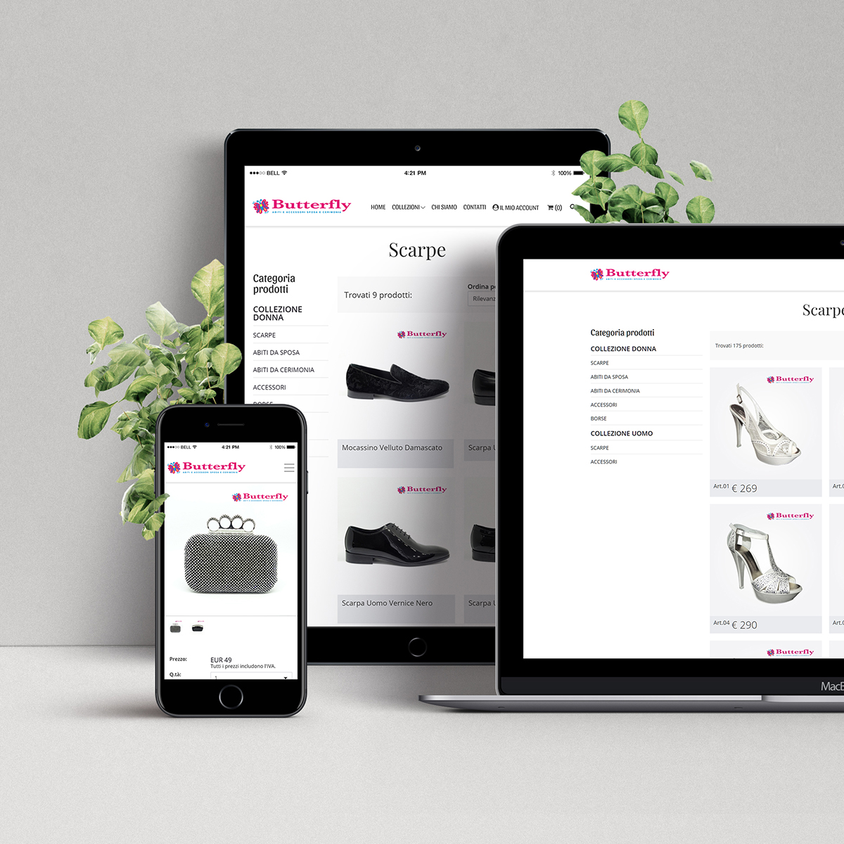 Still life per e-commerce – Butterfly