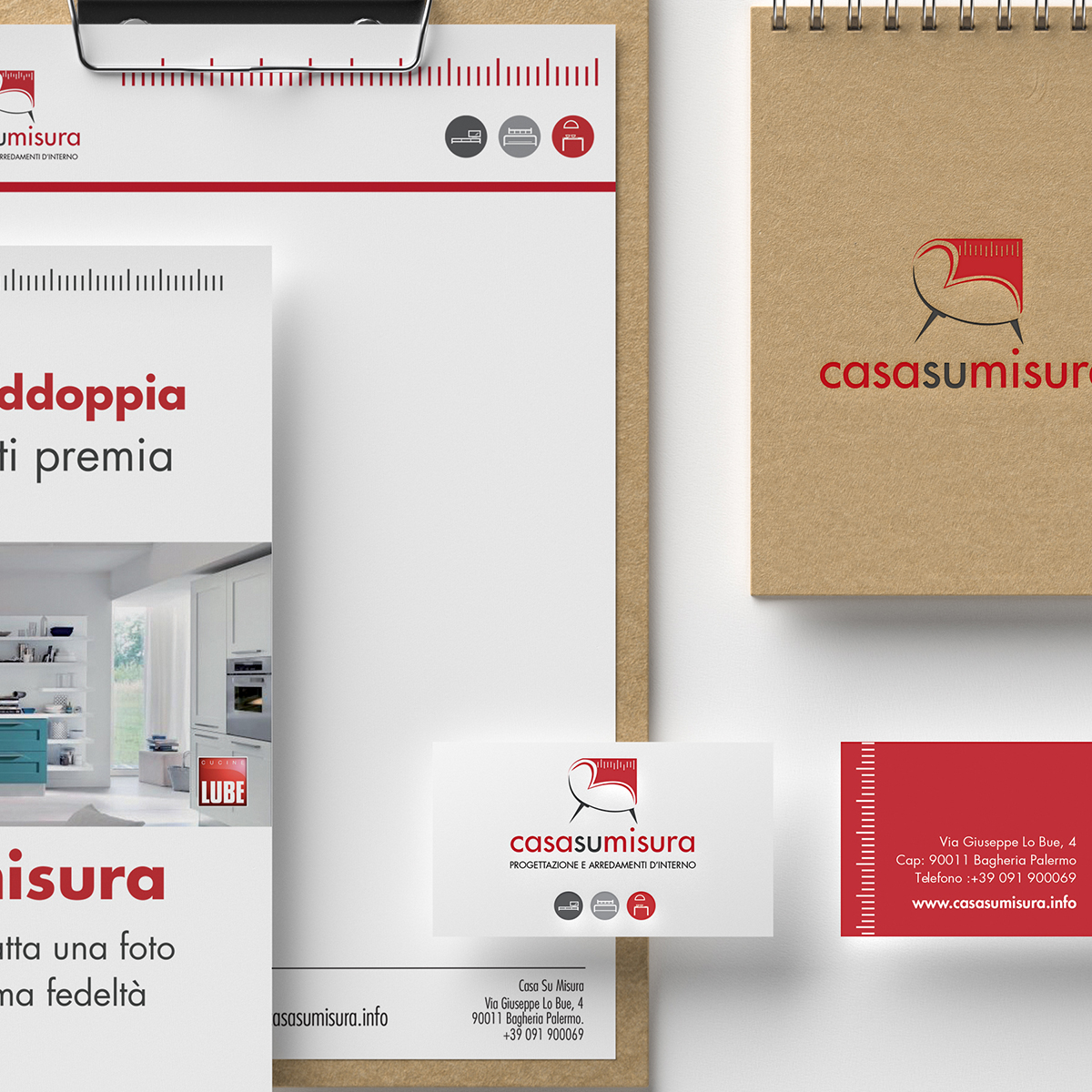 Logo+Corporate Identity – CasaSuMisura